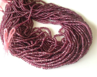 BLOWOUT SALE Wholesale- Last chance to Buy ,  Rodolite Garnet Beads-Micro Facetd Rondell 2.5-3.5mm Approx