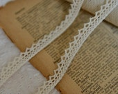 6 Yards Off White Cotton Lace Trims 2/5  Inches Wide