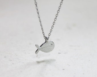 Cute tiny whale charm Necklace - S2308-1