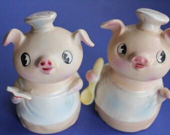Salt and Pepper Shakers, Salt and Pepper, Piggy