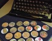 Set of 21 - Vintage Gold Envelope Seals