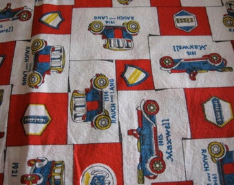 Two yards vintage car print, cotton