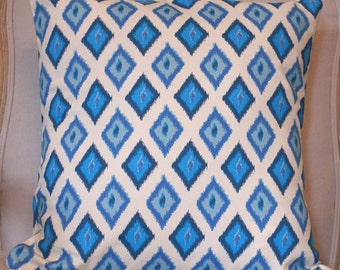 Ikat pillow linen/cotton blend