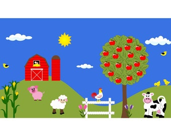 Farm Kids Wall Decal Sticker Playroom Mural Reusable