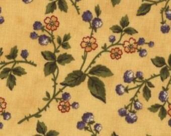 SALE 1 yard of Audra's Iris Garden Goldenrod Delicate Spray  by Brannock and Patek for Moda