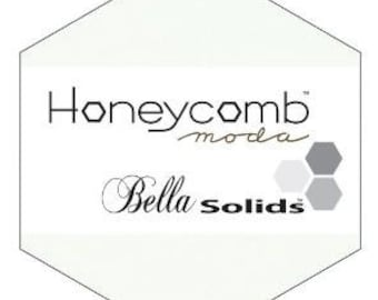 SALE 1 White Bella Solids Honeycomb by Moda