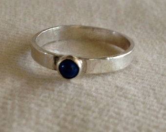 Cabochon Gemstone on Band Ring. Eco Friendly. Ring Band.  Classic.  3mm