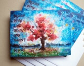 Blank Note Cards, Watercolor Notecards, Scripture Cards, Inspirational Cards, Rejoice In The Lord, Christian Note Card, Note Cards