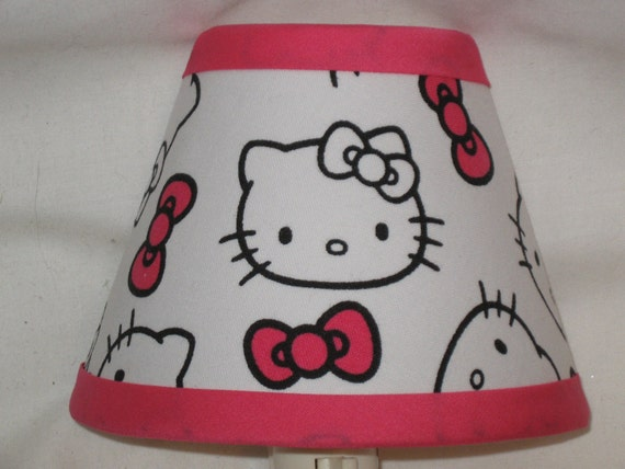 items similar to hello kitty faces fabric night light on etsy. Black Bedroom Furniture Sets. Home Design Ideas