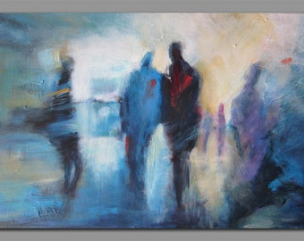Envy -Abstract figurative painting on canvas