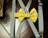 Boys Bowtie, Bow Ties and Suspenders, Boys Bow Ties, Yellow Bow Ties, Wedding BowTie, Bowtie