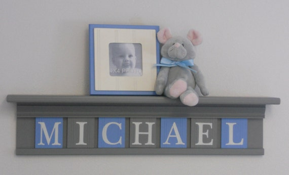 Baby Boy Nursery Wall Decor Personalized Baby Name Sign