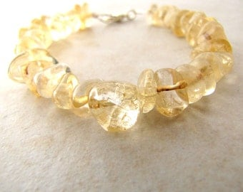 Citrine Bracelet Gemstone Gold Topaz November Birthstone BellinaCreations Bellina Creation
