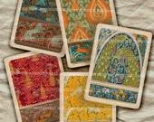 Art Nouveau Playing Cards Flora Fauna 1920s ATC ACEO Twenties Deck Game 20s Decoupage Printable Digital Collage Sheet Download 296