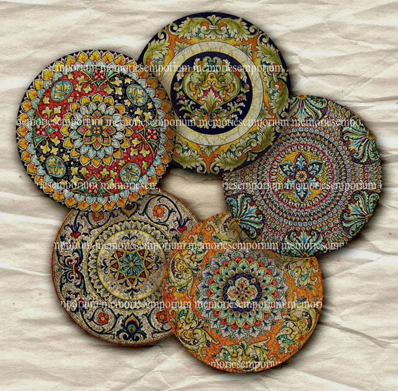 Old China Patterns old china plates two inch circles antique patterns decoupage