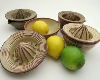 Lemon Lime citrus Juicer in Stoneware pottery