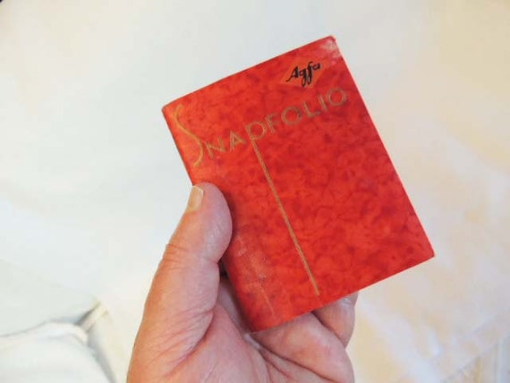 Vintage 1930's AGFA PLENACHROME SNAPFOLIO Booklet For Negatives & Print Photos