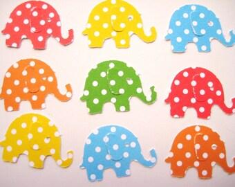 100 Bright Polka Dot Elephant punch die cut scrapbooking embellishments noE1503
