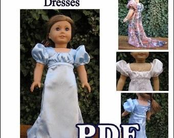 Regency French Empire Dresses PDF Pattern INSTANT DOWNLOAD