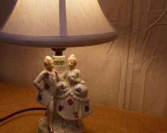 Figurine Lamp- - Victorian Lamp  Edwardian Lamp  Vintage Lamp