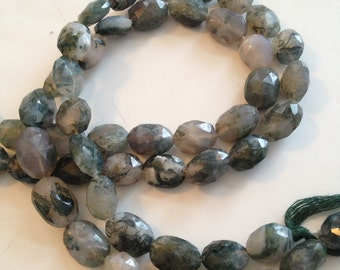 Moss Aquamarine Faceted Ovals-12x9mm