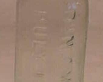 c1880s Dr. N. C. White's Puly Elixir Burlington, VT. , Aqua Blown Glass Cork Top Medicine bottle No. 2