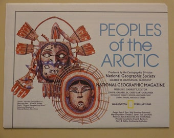 Folded Map Peoples of the Arctic Anthropology Vintage 1983 National Geographic