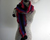 mulit colored pom pom scarf free shipping
