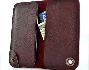 iPhone 6 leather wallet and case