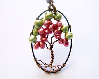 Tree of Life Necklace, Watermelon Tree