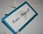 Shell Place Cards Layered - Wedding/Quince/Bat Mitzvah - Beach Theme