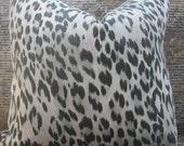 Designer Pillow Cover -  10 x 20, 18 x 18 - Kravet Echo Bosana Shadow Black & Gray