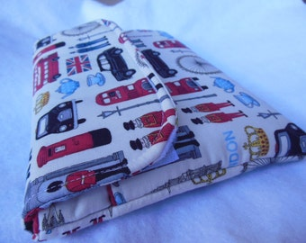 Out of Print London fabric Ipad mini/Nook Color / Kindle Fire / Tablet PC / eReader Sleeve Case Cover with deep pocket- Love London