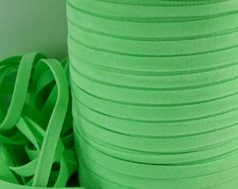 6yds Faux Suede leather Flat cord Micro Fiber Light Green Flat Jewelry Cord 4mm 5mm x .5mm