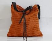 Crochet wool hobo bag beach , summer, boho style