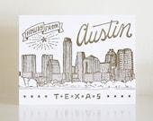 Austin Letterpress Postcard