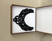 Black Crochet Necklace Crochet Jewelry Lace Holiday Accessories Crochet Collar