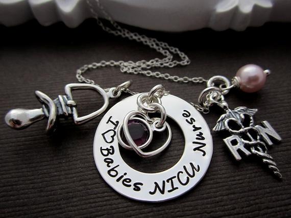 Nicu Baby Nurse Charm Necklace Rn Nurse Gifts By Shinymetals