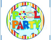 INSTANT DOWNLOAD Party Printables - Pool Party Tablescape - DIY Printable Birthday Decor