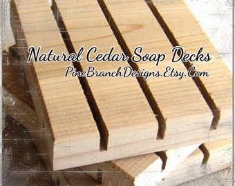 SAMPLER Soap Dishes TRY 3 of our most popular spa soap decks Eco-friendly