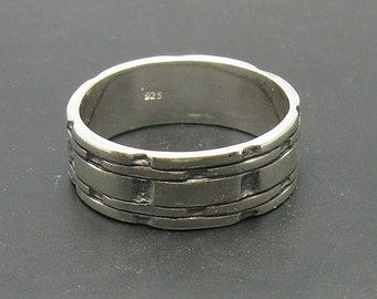 R000686 Sterling Silver Ring Solid 925 Band