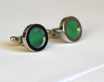 aurora borealis northern lights green cuff links