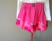 Girls Twirl Skirt size 3...by Tammarie Designs...Pink and Hibiscus