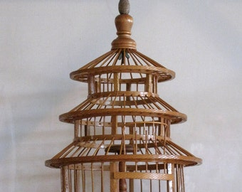 REDUCED - Pagoda bird cage - Bamboo bird house