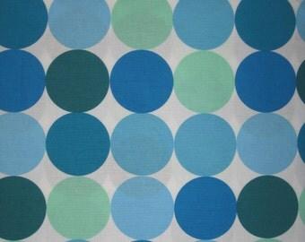 "Michael Miller Disco Dot blue green white fabric 34"" X 42"""