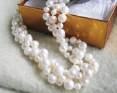 Grade AA  3 Strand pearl necklace, fresh water pearl, Wedding, wedding jewelry,  jewelry, bridal jewelry, bridesmaid gift, bridal necklace