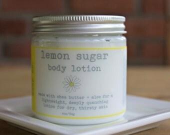 LEMON SUGAR 4 oz  Vegan Hand Lotion Body Lotion