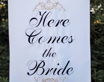 Personalized Bridal Banner - Two Sided