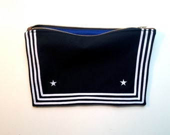 Navy Clutch from Vintage Uniform