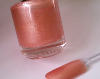 Pink Lemonade -Non Toxic 5 FREE, Custom Blended Glitter Nail Polish. Full Size 15 ml Bottle. Premium Quality.